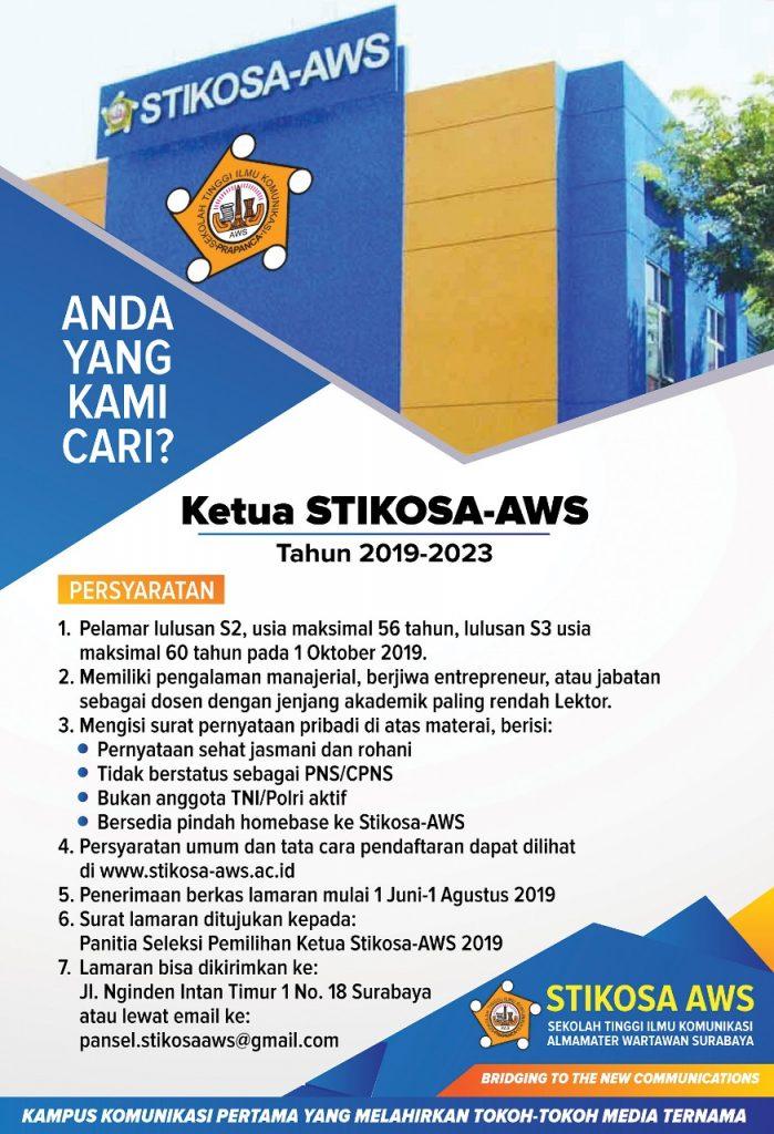 Ketua Stikosa-AWS Tahun 2019-2023